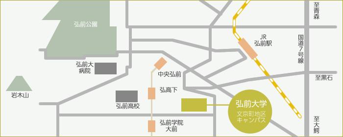 【図】弘前市内マップ